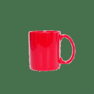 แก้วเซรามิคทรงกระบอกสีแดง JJ10001