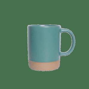 แก้วเซรามิคทรงกระบอกเขียว ก้นทราย JJ10002